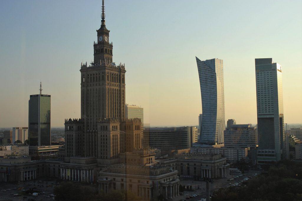 Warschau, Zentrum, Kulturpalast und moderne Hochhäuser