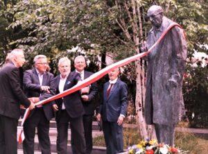 Enthüllung des Denkmals für Władysław Bartoszewski in Sopot/Zoppot 2020