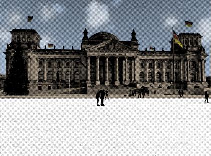 Eislaufbahn vor dem Deutschen Bundestag