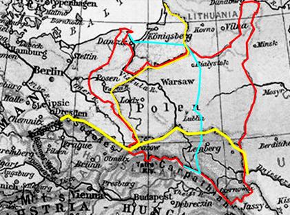 Deutsch-polnische Grenze der Zwischenkriegszeit