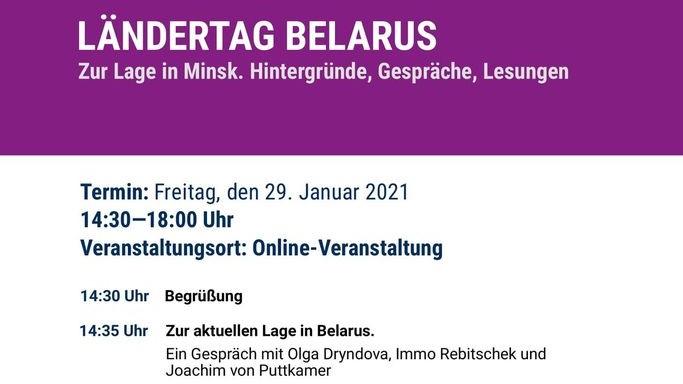 Ländertag Belarus: Zur Lage in Minsk. Hintergründe, Gespräche, Lesungen
