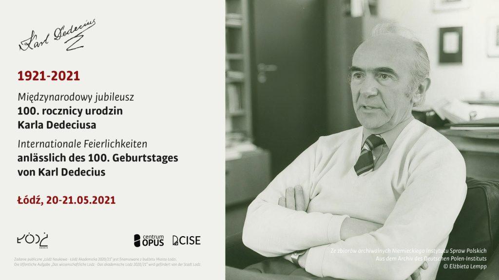 """Karl Dedecius """"Europejczyk z Łodzi / ein Europäer aus Lodz"""""""